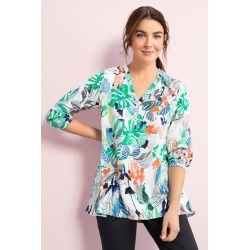 Capture Placket Detail 3/4 Sleeve Top - Abstract Print - 8 found on Bargain Bro Philippines from Rivers for $25.82