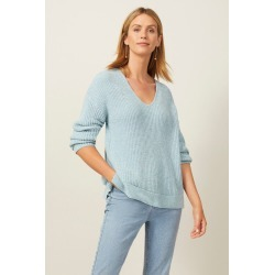 Emerge Chenille V Neck Sweater - Turquoise - S found on Bargain Bro India from Noni B Limited for $35.83