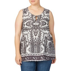 Beme Sleeveless Crushed Print Top - Paisley Print - 14 found on Bargain Bro from BE ME for USD $8.53
