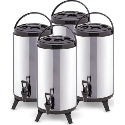 Soga 12l Portable Insulated Brew Pot With Dispenser 4pack - Stainless Steel - ONE
