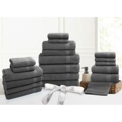 Kingtex 20 Piece 100% Cotton Bathtowel Set - Grey - One found on Bargain Bro from Noni B Limited for USD $24.24