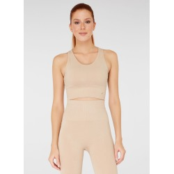 Jerf Womens Luz Seamless Crop Top - Natural - M found on Bargain Bro from Noni B Limited for USD $32.88