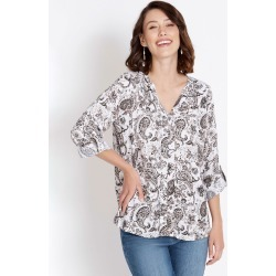 Rockmans 3/4 Sleeve Neutral Paisley Print Top - Multi - 24 found on Bargain Bro Philippines from Rockmans for $13.70