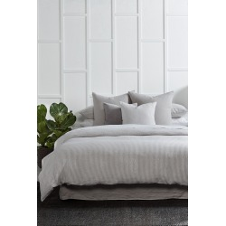 Hampton Stripe Linen Duvet Cover Set - Ash Stripe - Double found on Bargain Bro India from Rockmans for $161.48