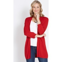 Rockmans 3/4 Sleeve Basic Cardi - True Red - XS found on Bargain Bro India from Rivers for $15.55