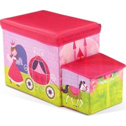Kids Storage Toy Box Foldable Organiser - Pink - One found on Bargain Bro India from Rockmans for $23.23