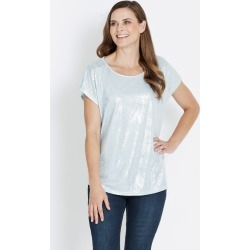 Rivers Extended Sleeve Foil Tee - Mist Foil - 10 found on Bargain Bro from Noni B Limited for USD $7.05