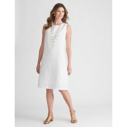 W.lane Stripe Linen Dress - White - 8 found on Bargain Bro from Noni B Limited for USD $14.34