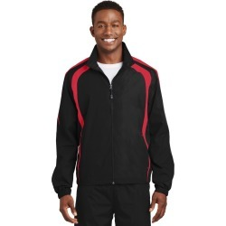 Sport-tek Colorblock Raglan Jacket - Black/ True Red - Black/ True Red - M found on Bargain Bro India from Rockmans for $36.20