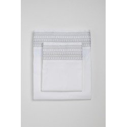 Florence Embroidered Sheet Set - Ash - Double found on Bargain Bro India from Rockmans for $76.03