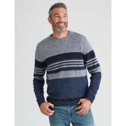 Rivers Grindle Stripe Jumper - Multi Blues - 3XL found on Bargain Bro from Rockmans for USD $17.52