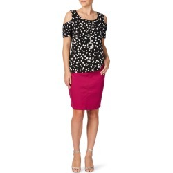 Rockmans Knee Length Side Zip Denim Skirt - Magenta - 10 found on Bargain Bro India from Noni B Limited for $14.08