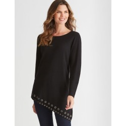 W.lane Eyelet Studded Assymetric Tunic - Black - S found on Bargain Bro Philippines from crossroads for $22.79