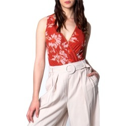 Ak Women's Bodysuit In Floral Orange Print found on Bargain Bro Philippines from crossroads for $86.25