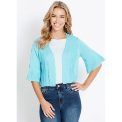 Rockmans Elbow Flare Sleeve Pointelle Cardigan - Capri - XS found on Bargain Bro from Noni B Limited for USD $11.74