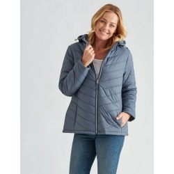 Rivers Padded Jacket - Steel - 10 found on Bargain Bro Philippines from crossroads for $31.43