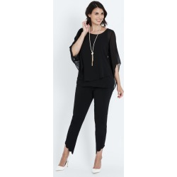 Liz Jordan S/s Removable Overlay Top - Black - 10 found on Bargain Bro from Noni B Limited for USD $14.68
