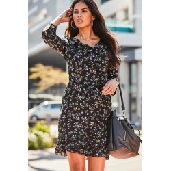 Urban Frill Print Dress - Black Floral - 12 found on Bargain Bro from Noni B Limited for USD $25.83