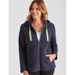 Millers Long Sleeve Quilted Zip Through - Navy Melange - 10 found on Bargain Bro Philippines from crossroads for $15.72