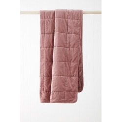 Windsor Quilted Velvet Throw - Rosewood - One Size found on Bargain Bro from Noni B Limited for USD $48.72