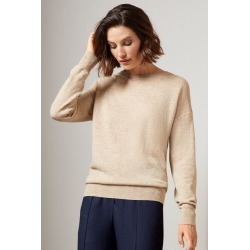 Grace Hill Cashmere Blend Crew Neck - Latte Marl - M found on Bargain Bro from crossroads for USD $67.51
