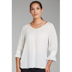 Grace Hill Bell Sleeve Top - Ivory - 8 found on Bargain Bro from Rivers for USD $26.45