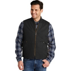 Cornerstone Washed Duck Cloth Vest - Black - M found on Bargain Bro from Rivers for USD $57.43