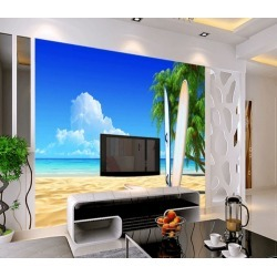 Aj Wallpaper 3d Beach Surfboard 734 Wall Murals Removable Wallpaper Woven Paper - Multi - XL found on Bargain Bro Philippines from Noni B Limited for $317.20