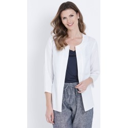 W.lane Linen Sequin Trim Jacket - White - 8 found on Bargain Bro from Katies for USD $20.71