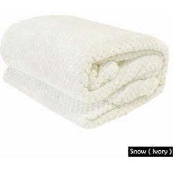Apartmento Diamond Fleece Blanket - Snow