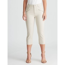 Rockmans Crop Zip Front Jean - Stone - 22 found on Bargain Bro India from crossroads for $15.55