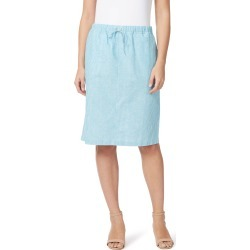 W.lane Linen Stripe Skirt - Sky - 12 found on Bargain Bro from Noni B Limited for USD $17.02