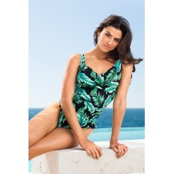 Quayside Secret Support Wrap Bodice Swimsuit - Tropical - 10 found on Bargain Bro Philippines from Rivers for $18.44