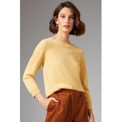 Grace Hill Cashmere Blend Sweater - Ochre - S found on Bargain Bro from crossroads for USD $61.64