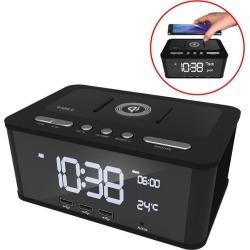 Qi Wireless Digital Dual Alarm Clock Bluetooth/nfc Speaker Usb Charging/fm Radio - Multi - One found on Bargain Bro from Noni B Limited for USD $50.97