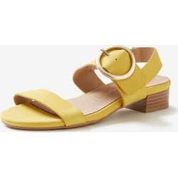 Rivers Riversoft Buckle Trim Block Heel - Yellow - 38 found on Bargain Bro from Noni B Limited for USD $16.90