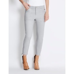 Rockmans 7/8 Length Zip Slim Leg Soft Touch Pant - Soft Grey found on Bargain Bro India from crossroads for $13.68