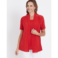 Millers Short Sleeve Printed 2 In 1 Top - Shanghai Red found on Bargain Bro Philippines from crossroads for $7.17