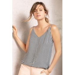 Emerge Woven Print Cami - Black/white Stripe - 22 found on Bargain Bro India from Rivers for $11.42
