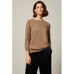 Grace Hill Cashmere Blend Sweater - Brown Marl - XL found on Bargain Bro from crossroads for USD $61.64