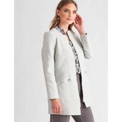 Liz Jordan Long Sleeve Longline Zip Coat - Vapor Blue - 10 found on Bargain Bro from Noni B Limited for USD $58.71