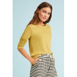 Capture Linen Blend Long Sleeve - Chartreuse - 8 found on Bargain Bro from crossroads for USD $17.59