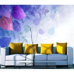 Aj Wallpaper 3d Leaves Falling Water Drops 1036 Wall Murals Removable Wallpaper Self-adhesive Vinyl - Multi - XL found on Bargain Bro from Rockmans for USD $288.65