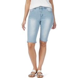 Rockmans Knee Length Light Wash Denim Short - 8 found on Bargain Bro from BE ME for USD $14.64