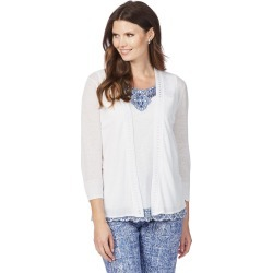 W.lane Trim Detail Cardigan - White - XL found on Bargain Bro from Noni B Limited for USD $14.73