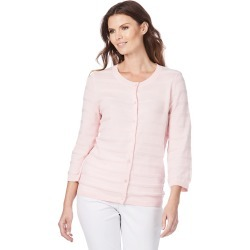 W.lane Stripe Texture Cardigan - Blush - XS found on Bargain Bro from Noni B Limited for USD $14.73