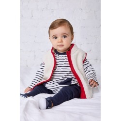 Pumpkin Patch Sherpa Vest With Striped Lining - Cherry - 3-6 mths found on Bargain Bro India from Rockmans for $9.84