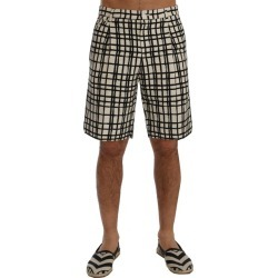 Dolce & Gabbana White Black Striped Casual Shorts - IT44 found on Bargain Bro India from W Lane for $318.85