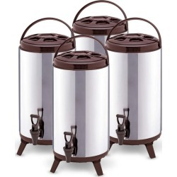 Soga 18l Portable Insulated Brew Pot With Dispenser 4pack - Stainless Steel - ONE