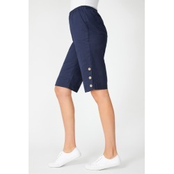 Capture Linen Blend Button Short - Navy - 8 found on Bargain Bro from Katies for USD $20.12